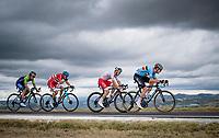Wout van Aert (BEL/Jumbo - Visma) chasing down Julian Alaphilippe in company of Michal Kwiatkowski (POL/Ineos Grenadiers), Jakob Fuglsang (DEN/Astana) & Primoz Roglic (SVN/Jumbo-Visma)<br /> <br /> Men's Elite Road Race from Imola to Imola (258km)<br /> <br /> 87th UCI Road World Championships 2020 - ITT (WC)<br /> <br /> ©kramon