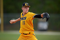 Austin Becker (11) while playing for Canes National based out of Fredericksburg, Virginia during the WWBA World Championship at the Roger Dean Complex on October 21, 2017 in Jupiter, Florida.  Austin Becker is a pitcher / shortstop from Sunbury, Ohio who attends Big Walnut High School.  (Mike Janes/Four Seam Images)