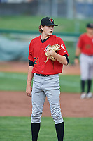Great Falls Voyagers starting pitcher Codi Heuer (21) during a game against the Ogden Raptors at Lindquist Field on August 21, 2018 in Ogden, Utah. Great Falls defeated Ogden 14-5. (Stephen Smith/Four Seam Images)