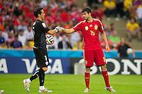 Rio de Janeiro, Brazil - June 18, 2014: Chile beat last World Cup champions Spain 2-0 at Estadio Jornalista Mário Filho (Maracanã).