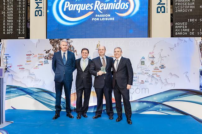 Evento de salida a Bolsa de Parque Reunidos en la Bolsa de Madrid.
