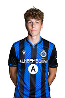 20th August 2020, Brugge, Belgium;  Arne Engels pictured during the team photo shoot of Club Brugge NXT prior the Proximus league football season 2020 - 2021 at the Belfius Base camp