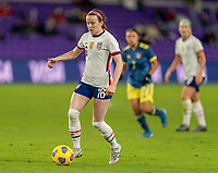 ORLANDO, FL - JANUARY 18: Rose Lavelle #16 of the USWNT dribbles during a game between Colombia and USWNT at Exploria Stadium on January 18, 2021 in Orlando, Florida.