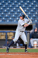 Trenton Thunder outfielder Slade Heathcott #11 during a game against the Akron Aeros on April 22, 2013 at Canal Park in Akron, Ohio.  Trenton defeated Akron 13-8.  (Mike Janes/Four Seam Images)