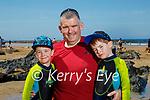 Enjoying Ballybunion beach on Sunday, l to r: Adam, Mark and Darragh O'Connor.