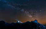 Pictured: The Milky Way with the Great Wall, Beijing, China<br /> <br /> This beautiful series of photographs shows the Milky Way as seen from different continents around the world.   Photographer Hua Zhu travelled the globe over the course of four years to capture the starry night sky from already stunning locations. <br /> <br /> The medical professor visited picturesque landmarks in the USA, Kenya, New Zealand and China, including the Great Wall in Beijing.  Chinese Dr Zhu, who lives in New Jersey, USA, said he meticulously planned the trips by researching when the Milky Way would be on show.   SEE OUR COPY FOR DETAILS<br /> <br /> Please byline: Hua Zhu/Solent News<br /> <br /> © Hua Zhu/Solent News & Photo Agency<br /> UK +44 (0) 2380 458800