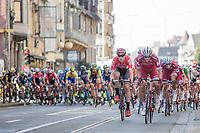 Frederik Frison (BEL/Lotto-Soudal) pulling the peloton on the local laps in De Panne<br /> <br /> 3 Days of De Panne 2017<br /> Morning stage 3: De Panne-De Panne (111,5km)
