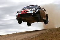 5th June 2021; Monte Acuto, Sardinia; WRC rally of Italia Sardinia; Kalle Rovenpera-Toyota Yaris WRC