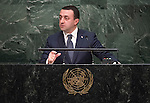 Statement by His Excellency Irakli Garibashvili, Prime Minister of Georgia <br /> General Assembly 70th session 22nd plenary meeting<br /> Continuation of the General Debate
