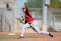 Cincinnati Reds pitcher Brennan Bernardino (44) during an Instructional League game against the Kansas City Royals on October 16, 2014 at Goodyear Training Complex in Goodyear, Arizona.  (Mike Janes/Four Seam Images)