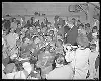 1955 Grey Cup winning team  in Vancouver, BC.<br /> <br /> <br /> Photo via Agence Quebec Presse