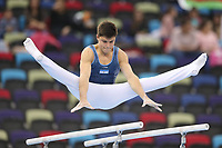 12th March 2020, Baku, Azerbaijan;  2020 Artistic World Cup Gymnastics Tournament;  Julian Jato, ARG, during qualification on parallel bars