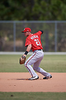 Washington Nationals David Masters (21) throws during practice before a minor league Spring Training game against the St. Louis Cardinals on March 27, 2017 at the Roger Dean Stadium Complex in Jupiter, Florida.  (Mike Janes/Four Seam Images)