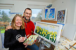 Artist Tina Reed with her husband Pat Rodgers