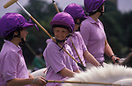 Polo Camp summer pony club week long polo camp. Lingfield Surrey England.