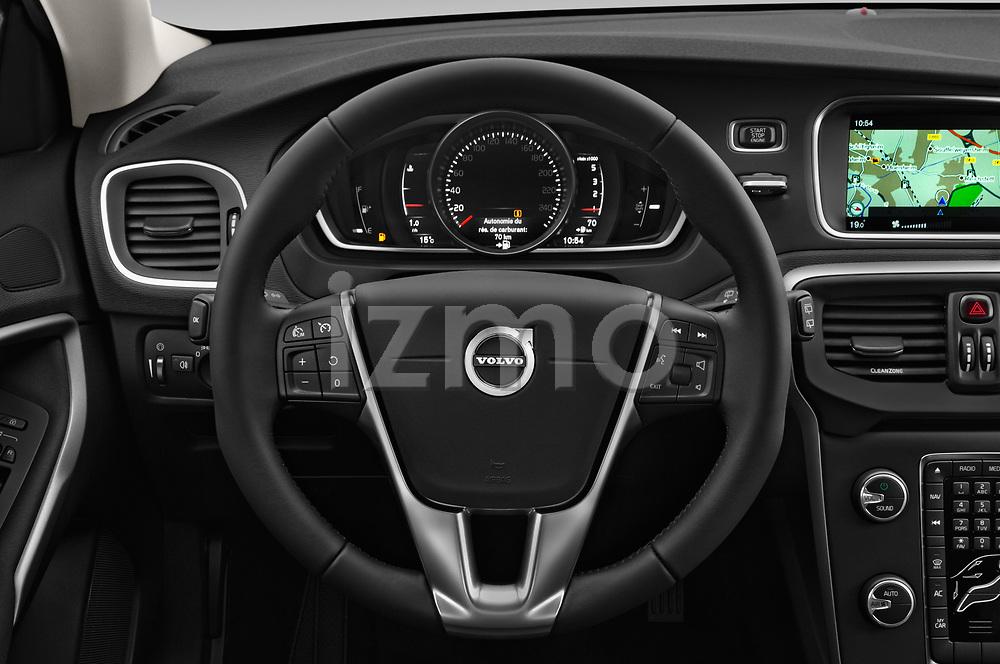 Car pictures of steering wheel view of a 2017 Volvo V40 Momentum 5 Door Hatchback Steering Wheel