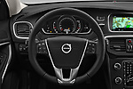 Car pictures of steering wheel view of a 2017 Volvo V40 Momentum 5 Door Hatchback Steering Wheel
