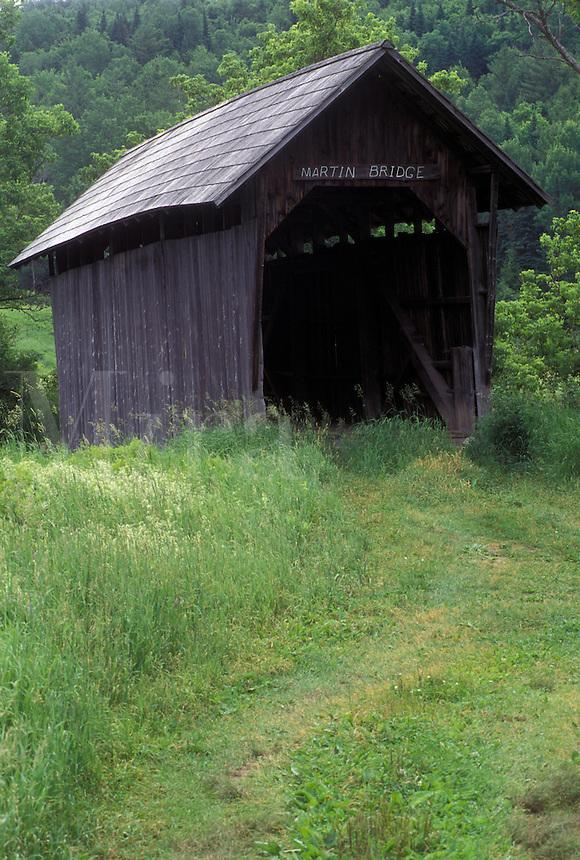 covered bridge, Vermont, VT, Martin Covered Bridge in Plainfield.