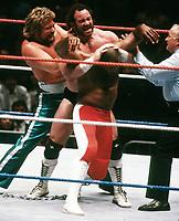 Ted Dibiase  Virgil  Hercules Hernandez 1989                                      Photo By John Barrett/PHOTOlink