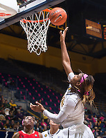 California's Reshanda Gray shoots for the basket during a game against Arizona at Haas Pavilion in Berkeley, California on February 14th, 2014. California defeated Arizona 65 - 49