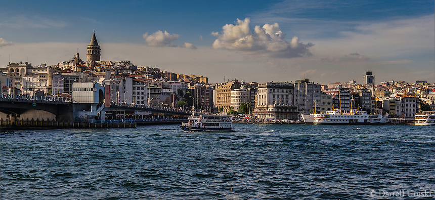 Fine Art Landscape Photograph. The Bosphorus strait in Istanbul, Turkey. <br />