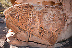 Great Basin curvilinear petroglyphs in the southern Simpson Park Range in Nevada's Great Basin, USA.
