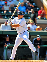 11 March 2009: Detroit Tigers' outfielder Casper Wells in action during a Spring Training game against the New York Yankees at Joker Marchant Stadium in Lakeland, Florida. The Tigers defeated the Yankees 7-4 in the Grapefruit League matchup. Mandatory Photo Credit: Ed Wolfstein Photo