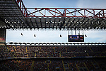 Internazionale 1 Cagliari 2, 16/10/2016. San Siro, Italian Serie A. The stadium's electronic scoreboard pictured as the match enters second-half injury time at the Stadio Giuseppe Meazza, also known as the San Siro, as Internazionale took on Cagliari in an Italian Serie A fixture. The match was overshadowed by a huge controversy that as Inter Ultras declared open warfare on captain Mauro Icardi for a chapter in his autobiography, accusing him of lying about an incident in 2015. Inter Milan lost the match 2-1, watched by a crowd of 43,757. Photo by Colin McPherson.