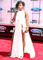 LOS ANGELES, CA, USA - JUNE 29: Singer Sevyn Streeter arrives at the 2014 BET Awards held at Nokia Theatre L.A. Live on June 29, 2014 in Los Angeles, California, United States. (Photo by Xavier Collin/Celebrity Monitor)