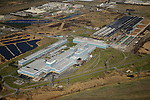 Corus Steelworks, now part of Tata Steel, Shotton, Flintshire, North Wales, from the air