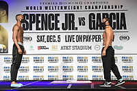 DALLAS, TX - DECEMBER 4: Burley Brooks and Marco Delgado attend the weigh-in for the Errol Spence Jr. vs Danny Garcia December 5, 2020 Fox Sports PBC Pay-Per-View fight night at AT&T Stadium in Arlington, Texas. (Photo by Frank Micelotta/Fox Sports)