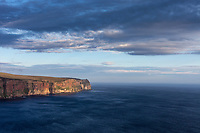 Spectacular cliffs of the Isle of Hoy at sunset, Orkneys, Scotland