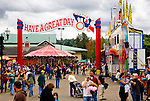 Have a Great Day banner on midway at State Fair.  Western Washington State Fair, Puyallup, Washington
