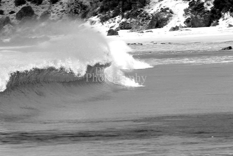 Black and White wave image taken at stokes bay kangaroo island