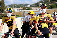 31st August 2020, Nice to Sisteron, France; Tour de France cycling tour, stage 3;   DUMOULIN Tom (NED) of TEAM JUMBO - VISMA, VAN AERT Wout (BEL) of TEAM JUMBO - VISMA