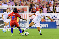 PHILADELPHIA, PA - AUGUST 29: Melissa Gomes #8 of Portugal during a game between Portugal and USWNT at Lincoln Financial Field on August 29, 2019 in Philadelphia, PA.