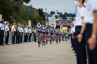 Edward Theuns (BEL/Trek-Segafredo) and  Jasper Stuyven (BEL/Trek-Segafredo) at the pre Tour teams presentation of the 108th Tour de France 2021 in Brest at le Grand Départ.<br /> <br /> 108th Tour de France 2021<br /> <br /> ©kramon