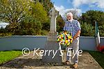 Conie Doolan lays a wreath at the Mass Rock in Kilcummin on Sunday