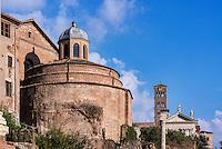 Santi Cosma e Damiano church located in  in the Roman Forum, Rome, Italy
