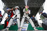 #23 Fast MD Racing Audi RS3 LMS TCR DSG, TCR: Nick Galante, James Vance, Nick Galante, #21 Byan Herta Autosport W Curb-Agajanian Hyundai Veloster N TCR, TCR: Mason Filippi, Harry Gottsacker, #54 JDC-Miller MotorSports Audi RS3 LMS TCR DSG, TCR: Michael Johnson, Stephen Simpson, Champagne, Podium