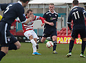 Accies Stevie May scores their first goal.