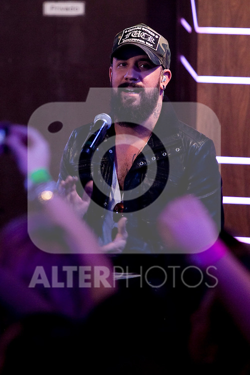 """AJ McLean of the Backstreet Boys attends a fan meeting performance concert during their new music album """"In A World Like This"""" presentation at 40 Principales Cafe on November 12, 2013 in Madrid, Spain. (ALTERPHOTOS/Victor Blanco)"""