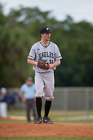 Edgewood Eagles relief pitcher Richie Coughlin (31) during the first game of a double header against the Bethel Wildcats on March 15, 2019 at Terry Park in Fort Myers, Florida.  Bethel defeated Edgewood 6-0.  (Mike Janes/Four Seam Images)