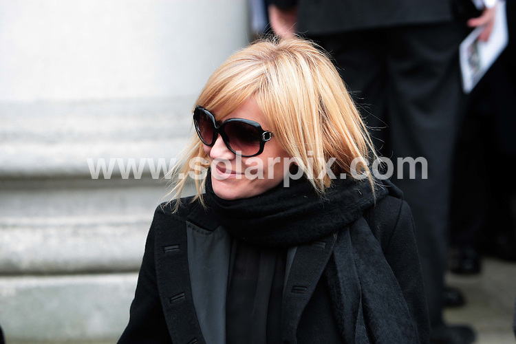 **ALL ROUND PICTURES FROM SOLARPIX.COM**.**NO UK NEWSPAPER PUBLICATION**.**UK MAGAZINE & SUPPLEMENT PUBLICATION ONLY** AND NO PUBLICATION IN AUSTRALIA, FRANCE, GERMANY, ITALY AND SCANDINAVIA** .The funeral of the long running UK TV soap Eastenders actress Wendy Richards, which took place at the St Marylebone Parish Church in central London this afternoon. London, UK. 09_03_2009..This pic: Michelle Collins..JOB REF: 8618 SFE       DATE: 09_03_2009.**MUST CREDIT SOLARPIX.COM OR DOUBLE FEE WILL BE CHARGED**.**ONLINE USAGE FEE GBP 50.00 PER PICTURE - NOTIFICATION OF USAGE TO PHOTO @ SOLARPIX.COM**.**CALL SOLARPIX : +34 952 811 768 or LOW RATE FROM UK 0844 617 7637**