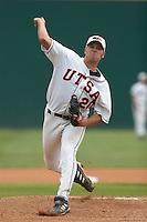 SAN ANTONIO, TX - APRIL 28, 2006: The Stephen F. Austin State University Lumberjacks vs. The University of Texas at San Antonio Roadrunners Baseball at Roadrunner Field. (Photo by Jeff Huehn)