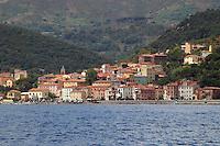 - the Rio Marina village seen from the sea....- il paese di Rio Marina visto dal mare