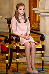 Princess Sofia of Spain attends the Order of Golden Fleece (Toison de Oro), ceremony at the Royal Palace . January 30,2018. (ALTERPHOTOS/Pool)