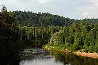 Die Gauja im Gauja-Nationalpark, Lettland, Europa