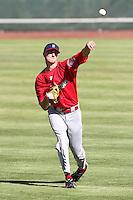 Spokane Indians pitcher Will Lamb #22 before game against the Salem-Keizer Valcanoes at Valcanoes Stadium on August 10, 2011 in Salem-Keizer,Oregon. Salem-Keizer defeated Spokane 7-6.(Larry Goren/Four Seam Images)