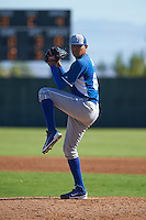 Kansas City Royals pitcher Julio Pinto (68) during an instructional league game against the San Francisco Giants on October 23, 2015 at the Papago Baseball Facility in Phoenix, Arizona.  (Mike Janes/Four Seam Images)